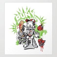 Lil' Sluggerbot! Art Print