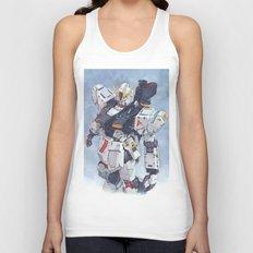 Nu Gundam watercolor Unisex Tank Top