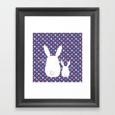 Bunny / Vintage pattern #4 Framed Art Print