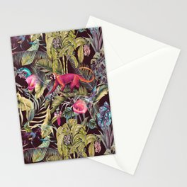 Fantasy in the nocturnal tropical jungle Stationery Cards