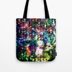 Princess Peach Piranha Plants Glitch Tote Bag