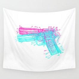 Gun Diagram Wall Tapestry