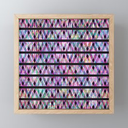 Geometric Glossy Pattern G330 Framed Mini Art Print