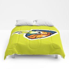 Fire Breathing Rowdys Logo Comforters