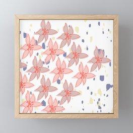 Lily on Terrazzo Framed Mini Art Print