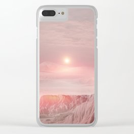 Pastel desert Clear iPhone Case