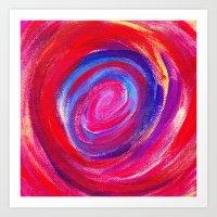 Red Cyclone Art Print