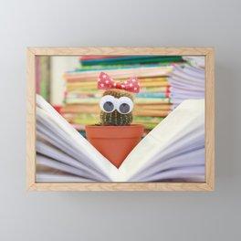 Cactus Book Flower Framed Mini Art Print