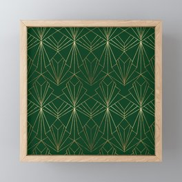 Art Deco in Gold & Green Framed Mini Art Print