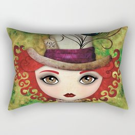 Lady Hatter Rectangular Pillow