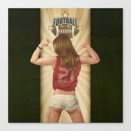 VINTAGE GIRLS - Footnall Canvas Print