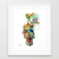 black Framed Art Prints featuring Dream Theory by Archan Nair