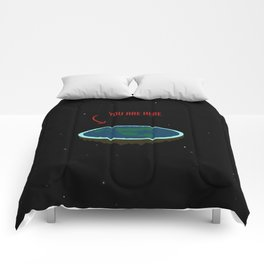 """Flat Earth - """"You Are Here"""" Comforters"""