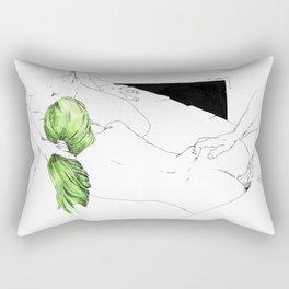 GreenHair Rectangular Pillow