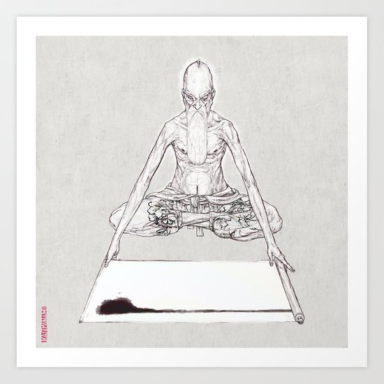 INDIA INK FOR THE TRIANGLE Art Print