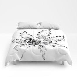 Black & White (Cannabis Resin Leaf) Comforters