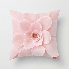 Blush Succulent Throw Pillow