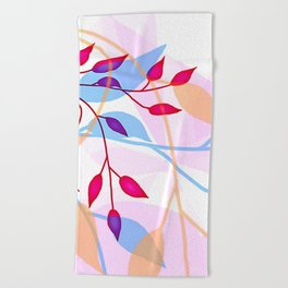 bright Flood of Leafs Beach Towel