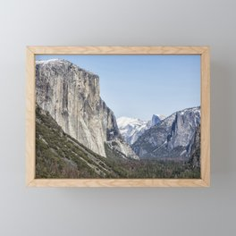 El Capitan, Half Dome and Sentinel Rock from Tunnel View Framed Mini Art Print