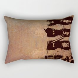 Power, Love, and a Sound Mind - 2 Timothy 1:7 Rectangular Pillow