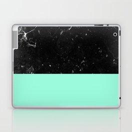 Mint Meets Black Marble #1 #decor #art #society6 Laptop & iPad Skin