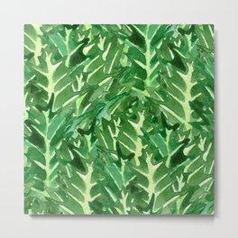 Holly Jolly Leaves (Large Pattern) Metal Print