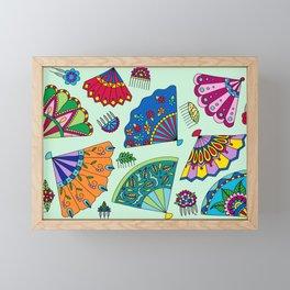 Colorful Fans Framed Mini Art Print