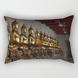 Buddha in a Row Rectangular Pillow