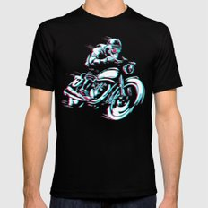 HIPSTER HOT RIDE Mens Fitted Tee Black MEDIUM