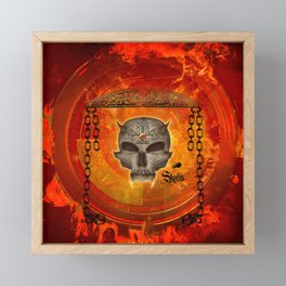 Awesome skull with celtic know Framed Mini Art Print