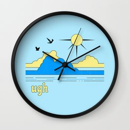 Ugh Wall Clock