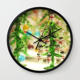 Snowmen Christmas trees Wall Clock