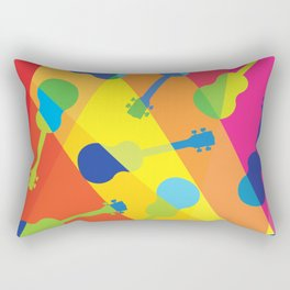 ukulele pattern Rectangular Pillow