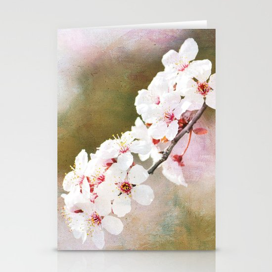 Pretty Cherry Blossom Flowers Stationery Cards