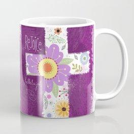 Rejoice Cross (purple) Coffee Mug