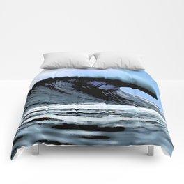Crazy Big Wave Blue Comforters
