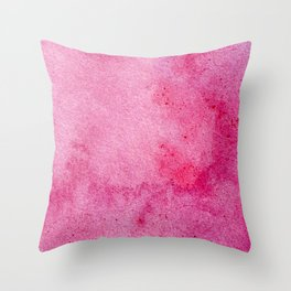 Pink marble watercolor texture Throw Pillow