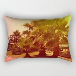 palm tree on a sunny day, toning Rectangular Pillow
