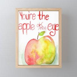 You're the apple of my eye Framed Mini Art Print