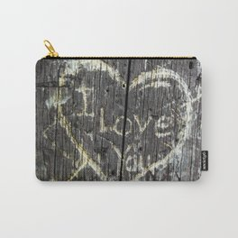 The Carving Tree - I Love You Carry-All Pouch