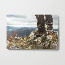 It is Travel o'Clock. || Snow Alps, Austria. || SchneeAlpe. || Standing on a Cliff. || MadaraTravels Metal Print