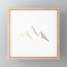 Golden Mountains Framed Mini Art Print