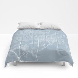 Gainesville Map, USA - Slate Comforters