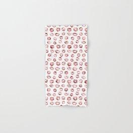 Girly Fashion Lips Rose Gold Lipstick Pattern Hand & Bath Towel
