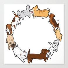 Social Circle Canvas Print