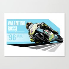 Valentino Rossi - 1996 Brno Canvas Print