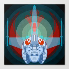 Red leader standing by Canvas Print