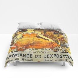 Alphonse Mucha World's Fair St Louis Missouri 1904 Comforters