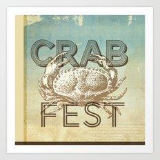 Crab Fest Art Print