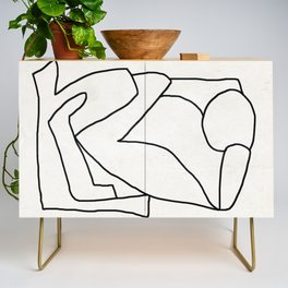 Abstract line art 2 Credenza